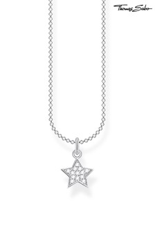 Thomas Sabo Silver Star Pendant And Chain Necklace