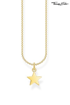 Thomas Sabo Gold Star Pendant And Chain Necklace