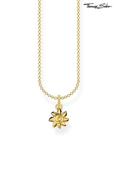 Thomas Sabo Gold Sun Pendant And Chain Necklace