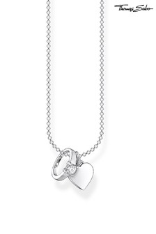 Thomas Sabo Silver Engagement Ring And Heart Pendant Chain Necklace