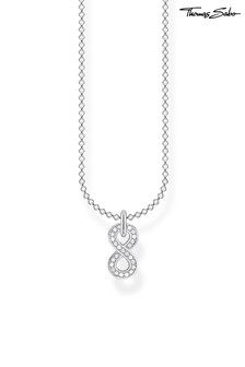 Thomas Sabo Silver Infinity Pendant And Chain Necklace