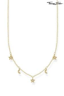 Thomas Sabo Gold Stars And Moon Necklace
