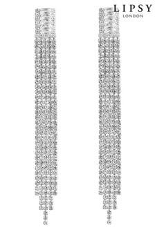 Lipsy Jewellery Silver Plated Crystal Diamante Drop Earring