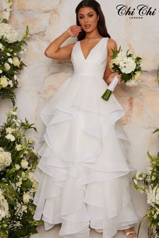 Chi Chi London White Bridal Casey Dress