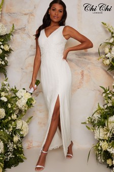 Chi Chi London White Bridal Anna Dress