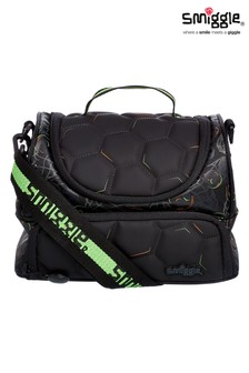 Smiggle Black Kick Double Decker Lunchbox With Strap