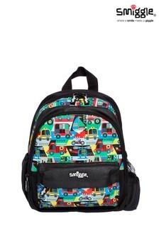 Smiggle Black Big Adventures Teeny Tiny Backpack