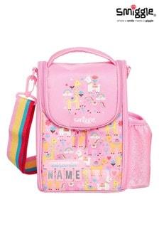 Smiggle Pink Big Adventures Teeny Tiny Id Strap Lunchbox
