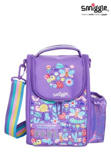 Smiggle Purple Big Adventures Teeny Tiny Id Strap Lunchbox