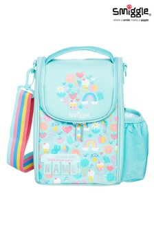 Smiggle Blue Rainbow Big Adventures Teeny Tiny Id Strap Lunchbox