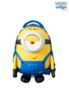 Smiggle Yellow Minions Junior Hardtop Backpack