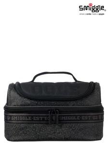 Smiggle Black Smiggler Double Decker Lunchbox