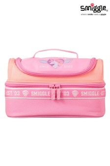 Smiggle Pink Smiggler Double Decker Lunchbox