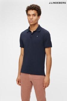 JLindeberg Navy Slim Fit Golf Polo Shirt
