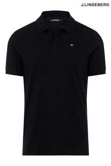 JLindeberg black Slim Fit Golf Polo Shirt