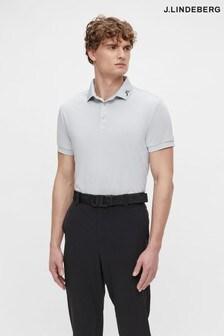 JLindeberg Grey Regular Fit Golf Polo Shirt With Logo Back