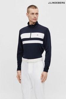 JLindeberg Navy Golf Mid Layer Sweater
