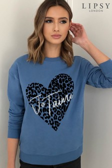 Lipsy Blue Je Taime Sweatshirt