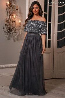 Sistaglam Grey Maxi Dress