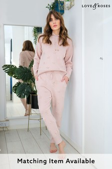 Love & Roses Blush Star Embossed Knitted Joggers
