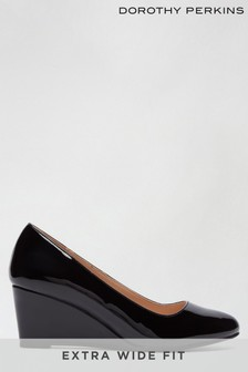 Dorothy Perkins Black Wide Fit Dreamer Wedge Court