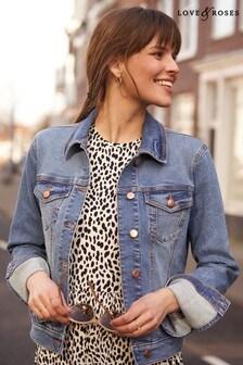 Love & Roses Mid Blue Denim Jacket