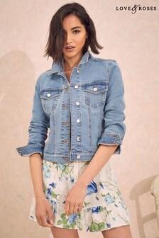 Love & Roses Light Blue Denim Jacket