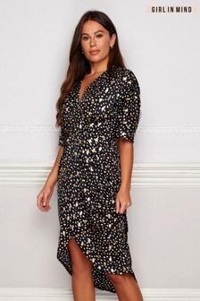 Girl In Mind Half Sleeve Printed Dress