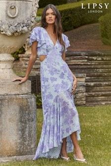 Lipsy Purple Cut Out Maxi Dress