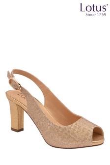 Lotus Footwear Gold Occasion Sling Back Sandal