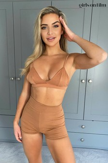 Little Mistress Lounge Crop Top And Shorts Co-Ord Set