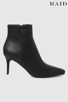 Raid Black Stiletto Heeled Ankle Boot