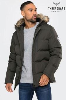 Threadbare Khaki Padded Coat