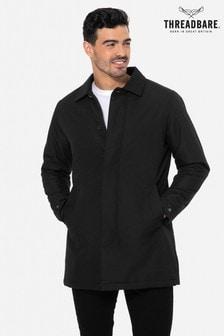 Threadbare Black Padded Longline Jacket