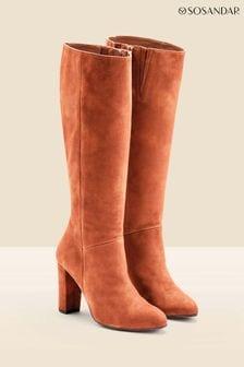 Sosandar Brown Knee High Boot