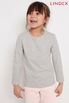 Lindex Grey Kids Printed Long Sleeve T-Shirt