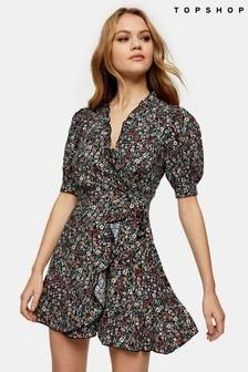 Topshop Print Wrap Dress