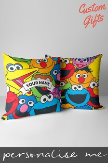 Personalised Sesame Street Linen Cushion by Custom Gifts