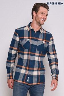 Brakeburn Orange Check Flannel Shirt
