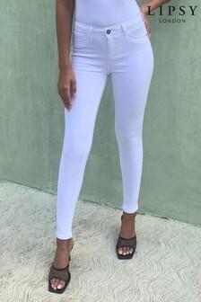 Lipsy White Regular Mid Rise Skinny Kate Jean