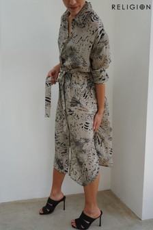 Religion Nude Roots Shirt Dress