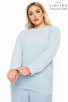 Yours Blue Limited Collection Baby Flannel Towelling Lounge Sweatshirt