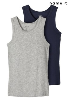 Name It Grey 2 Pack Vests