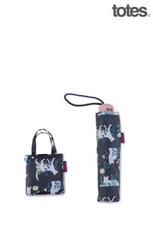 Totes Cats Silhouette Print Supermini & Matching Bag in Bag shopper