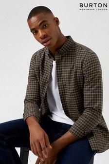 Burton Green Long Sleeve Mini Check Shirt