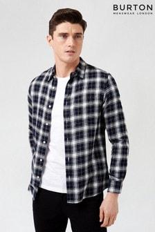 Burton Blue Long Sleeve Check Shirt