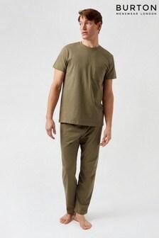 Burton Khaki Pocket Tshirt & Jogger Set