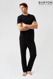 Burton Black Pocket Tshirt & Jogger Set