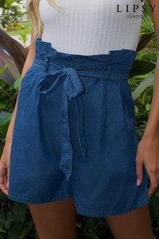 Lipsy Lightweight Denim Paperbag Shorts