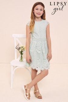 Lipsy Mint Cap Sleeve Lace Occasion Dress